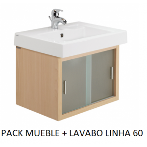 Pack mueble lavabo Linha suspendido 60
