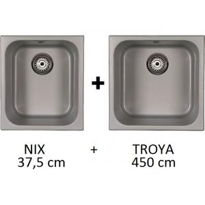 Fregadero SYAN bajo y sobre encimera combinado NIX + TROYA