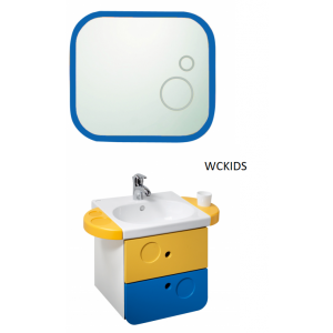 Conjunto mueble,lavabo y espejo Wckids Unisan