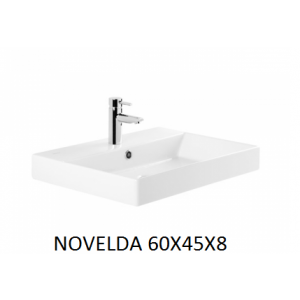 Lavabo Novelda sobre mueble  (60x45x8) UNISAN