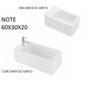 Lavabo Note sobre mueble (60x30X20) UNISAN
