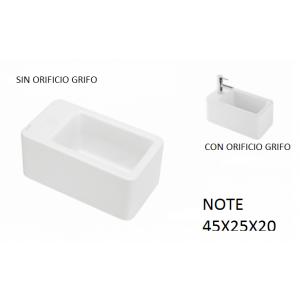 Lavabo Note sobre mueble (45x25X20) UNISAN