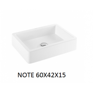 Lavabo Note sobre mueble (60x42X15) UNISAN