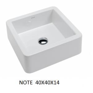Lavabo Note sobre mueble (40x40x14) UNISAN