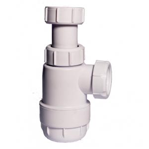 Sifón botella extensible sin válvula salida horizontal Obi