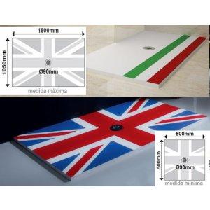 Plato ducha  Syan Serie Paises rectangular
