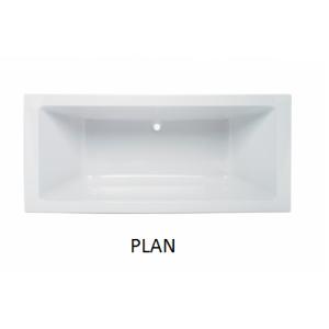 Bañera acrilica rectangular Plan Unisan