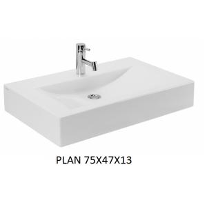 Lavabo Plan sobre mueble (75x47x13) UNISAN