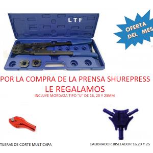 Prensa manual para multicapa desde 16 hasta 25 mm