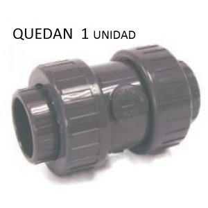 Valvula anti-retorno presión pvc encolar h-h  D: 75mm