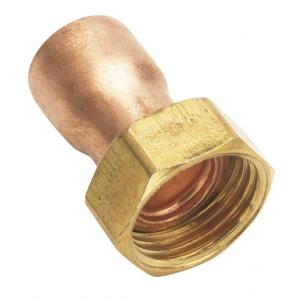 "Racor móvil para cobre 2 piezas  18x1/2"""