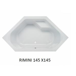 Bañera rincón acrílica Rimini Unisan