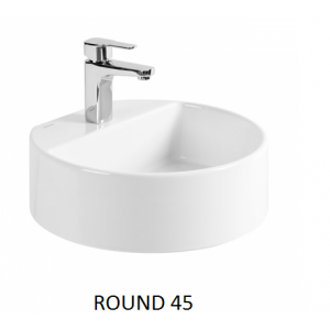 Lavabo Round sobre mueble o encimera c/ orificio UNISAN