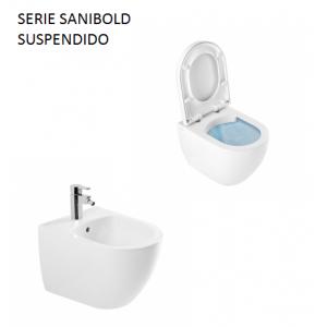 Conjunto Inodoro y Bidé Sanibold suspendido Unisan