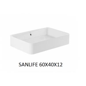 Lavabo Sanlife rectangular  sobre mueble o encimera   UNISAN