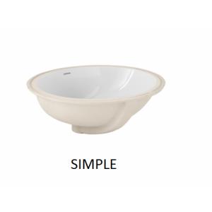 Lavabo Simple bajo encimera  (480x390) UNISAN