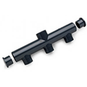 Colector triple pvc presión con salida central  D -50mm