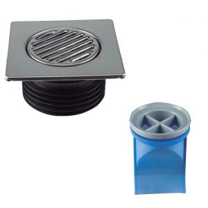Sumidero Terraza, sifón seco con anti - retorno por membrana  SPLIT (CON 2 RECAMBIO )