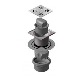 Sumidero plato ducha obra con válvula sifonica Tallin vertical