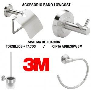 Conjunto accesorios baño Lowcost Talix