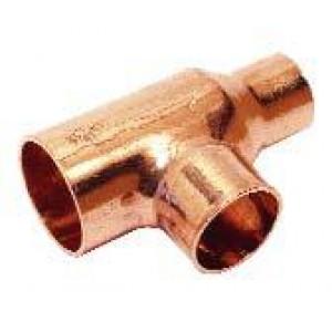 Te cobre soldar reducida Ø54-22-54