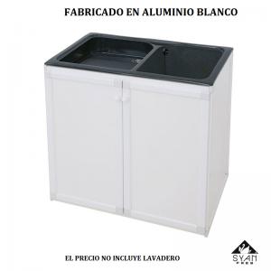 Mueble para lavadero THOR aluminio   785 X 510 X 800 mm