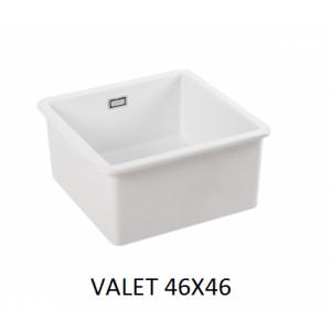 Fregadero ceramico Valet cuadrado 46x46x22