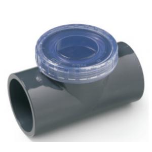 Valvula anti-retorno clapeta pvc presión con visor  encolar h-h