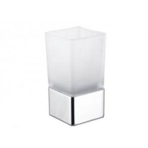 Vaso portacepillos cuadrado cristal