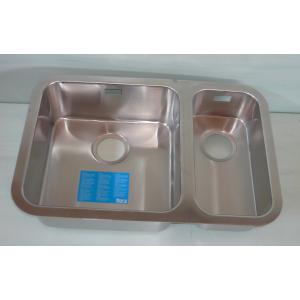 Fregadero Acero inox Roca s/ Viena - 40 + 20   sobre encimera