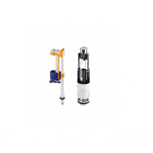Recambio conjunto mecanismo doble descarga (3/6L) cisterna baja  VINTAGE Unisan