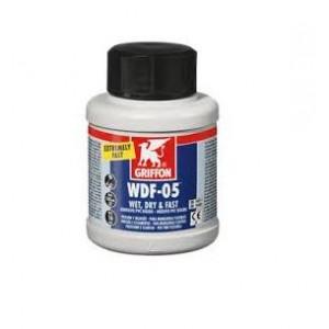 Pegamento muy rapido PVC gel frasco con brocha 250 ml.   GRIFFON