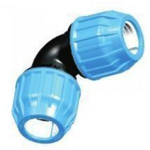 Codo h/h tubo polietileno D:50mm