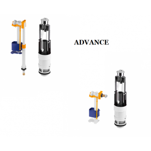 Recambio conjunto mecanismo cisterna doble descarga  (3/6L) Advance UNISAN