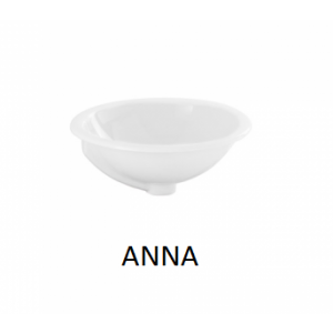 Lavabo sobre encimera redondo Anna (410) sin orificio UNISAN