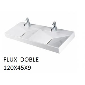 Lavabo Flux doble sobre mueble (120x45x9) UNISAN