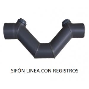 Sifón anti-olores en linea PVC encolar, desde 75mm hasta 315mm